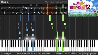Kono Subarashii Sekai ni Shukufuku wo! 2 Opening - TOMORROW (Synthesia)