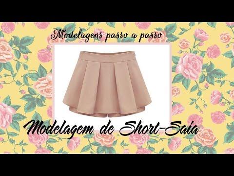 modelagem short saia em chita
