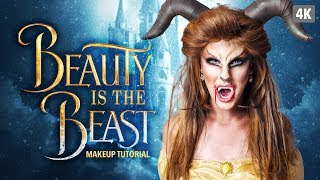 Beauty is the beast Halloween makeup tutorial