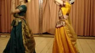 students of guru shri parveen gangani present sargam, duet,red squer,moscow,14.02.2010