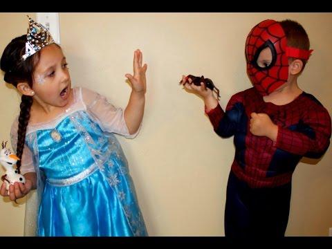 Frozen Elsa Vs Spider-man Vs Ghost Vs Batman | Real Life Superhero Movie