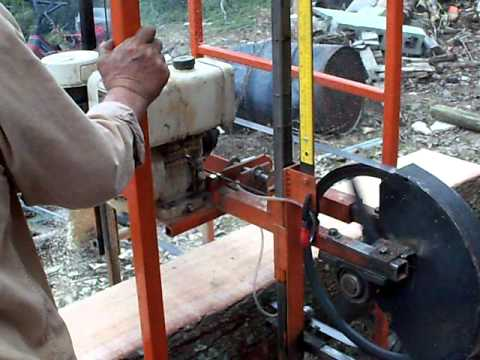 home made saw mill diy band mill