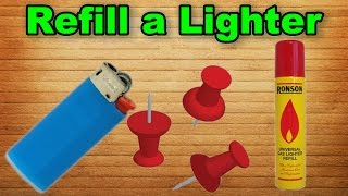 How to Refill a Lighter - Easy Way