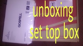 Unboxing gospel Digital Set Top Box &  How To Connection   set top box to tv  
