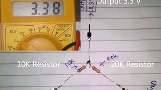 How to convert D.C 5V to 3V