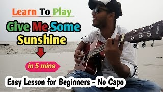 Give Me Some Sunshine Acoustic Guitar Lesson & Cover - 3 idiots - Aamir khan