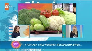1 haftada 3 kilo verdiren metabolizma diyeti - Sağlıklı Mutlu Huzurlu 49. Bölüm - atv