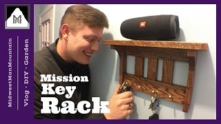 How to Make a Mission Style Key Rack