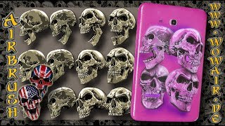 """Airbrush by Wow No.895 """" Pink Skullz """" english commentary"""