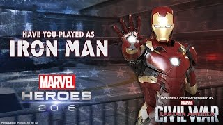 Play as Iron Man in Marvel Heroes 2016