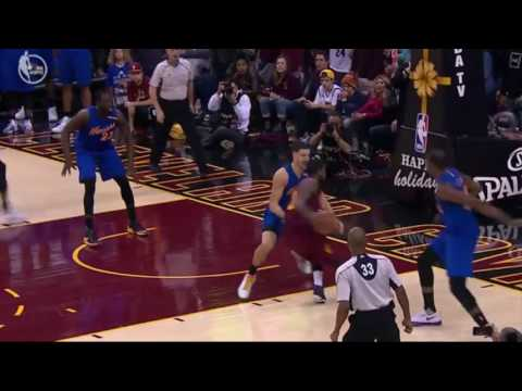Kyrie Irving puts the Cavs up 1 with 3 4s left  Warriors Vs Cavaliers   NBA Christmas Day 2016  2017