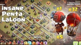 Th12 Insane PENTA LALOON Attacks | TH12 War Strategy #58 | COC 2018 |