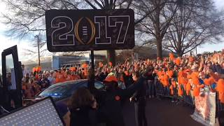 National Champions return home to Clemson