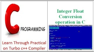 Integer Float Conversion operation in C