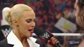 Lana is done with Rusev and kisses Dolph Ziggler again - WWE RAW, May 25th, 2015