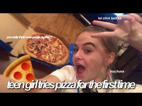 Xxx Mp4 TEEN GIRL TRIED PIZZA FOR THE FIRST TIME Vlogmas Day 7 3gp Sex