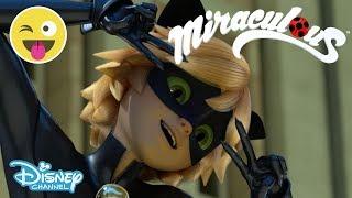 Miraculous | Season 2 Exclusive Sneak Peek: Cat Noir Saves the Day | Official Disney Channel UK