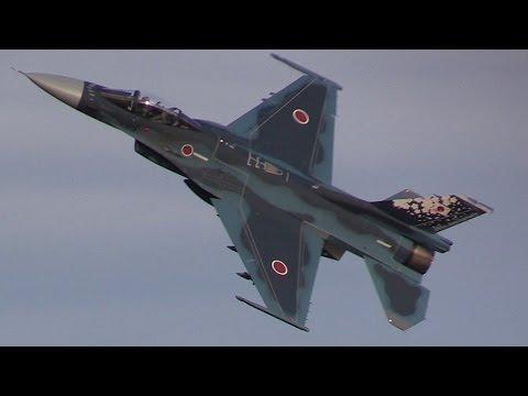 入間基地航空祭F-2帰投 圧巻のバイバイハイレート!!! 期待を裏切らない三沢基地のF-2は最高です!!!
