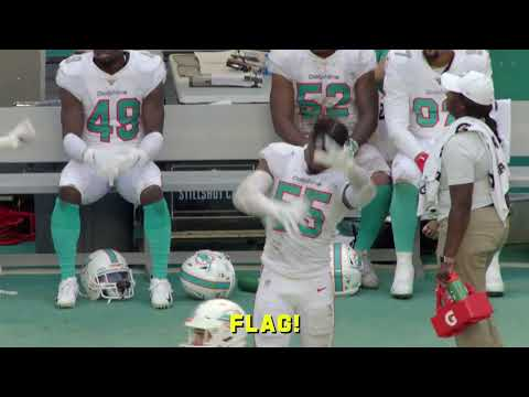Mic d Up Dolphins LB Jerome Baker looking for his mama in Week 9 win