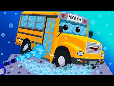 School Bus Car Wash   Toy Car Wash   Games for Kids & Toddlers