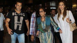Airport: Salman Khan Spotted With Girlfriend Iulia Vantur And Mother Salma