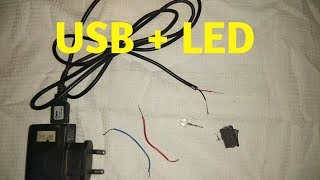 How to connect LED light to a USB charger wire | Very easy