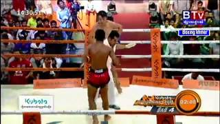 Boxing Khmer , Meun Sophea Vs. Thai, BTV Boxing, 20 March 2016