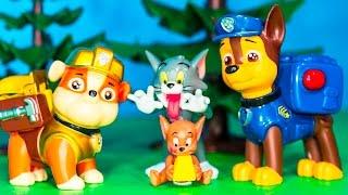 PAW PATROL Nickelodeon Paw Patrol with Tom & Jerry Toysl Video Parody