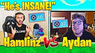 HAMLINZ vs GHOST AYDAN 1v1 CREATIVE MODE! - Top PC Player Vs BEST Console Player