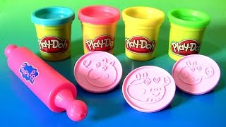 Play Doh Peppa Pig Creations with Play-Doh Peppa Pig Stampers by Funtoyscollector