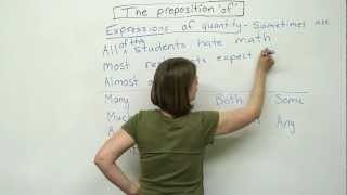 Prepositions in English - OF