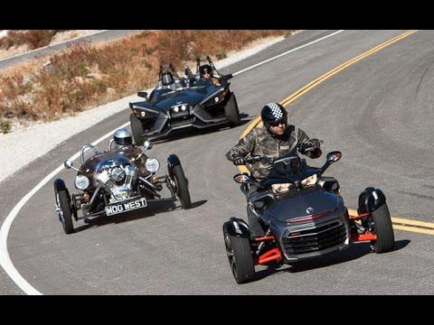 Is This A Motorcycle Shootout Polaris Slingshot vs. Can Am Spyder F3 vs. Morgan 3 Wheeler