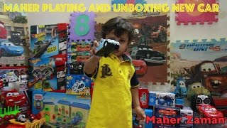 Maher is Playing with Police Car New Toys and Unboxing a New Car #Toys
