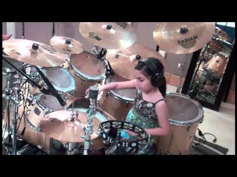 10 Year Old Girl Owns The Drums  Paulina  Kelly Clarkson