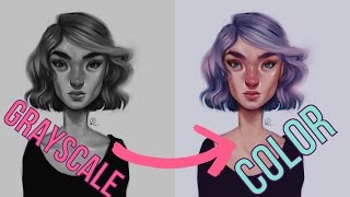 DIGITAL ART  Grayscale to Color Tutorial