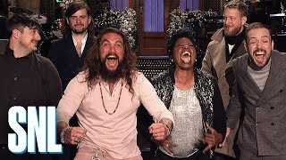 Jason Momoa Is Roaring with Excitement - SNL