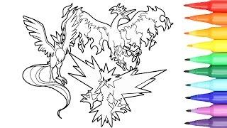 Pokemon Coloring Pages Zapdos Articuno Moltres I Fun Videos For Children POKEMON ZAPDOS ARTICUNO MOLTRES COLORING PAGES VIDEODOWNLOAD