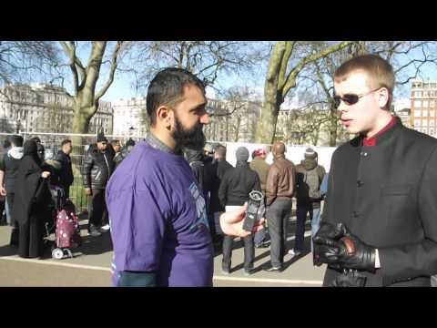 Atheist SMACKS Muslim with .
