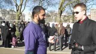 Atheist SMACKS Muslim with ....