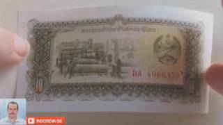 Cédula do Laos - 10 Kip