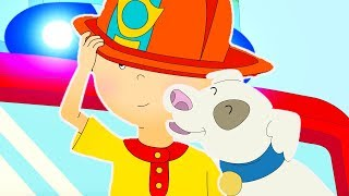 Caillou goes to the FIRE STATION | Funny Animated cartoon for Kids | Cartoon Caillou l Cartoon Movie