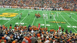 Syracuse fans rush the field