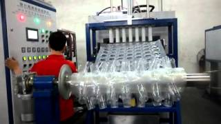 Automatic PLC Controlled Hydraulic 4 Pillar Cup Thermoforming Machine with Stacker