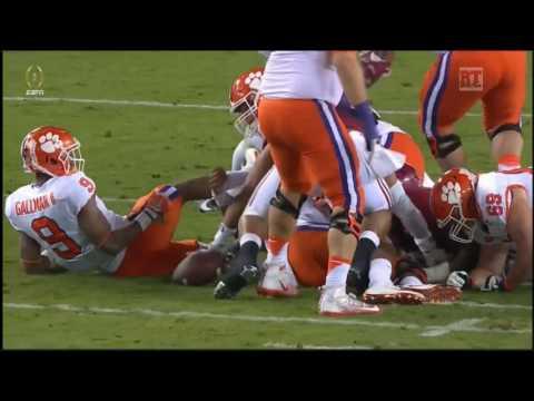 CFP National Championship Clemson Tigers vs Alabama Crimson Tide in 40 Minutes 1 9 17