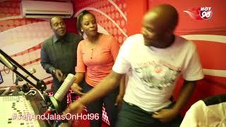 Kanze Dena, Jeff and Jalas dancing in Studio