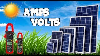 How to check amperes and voltages of solar panels    300 Watts Solar Panel.