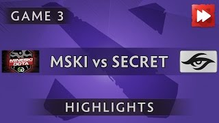 Mineski.GGNetwork vs Team Secret [Game 3] ROG MASTERS 2016 - Dota Highlights