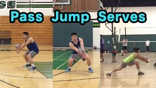 Passing Jump Serves - How to PASS a Volleyball Tutorial