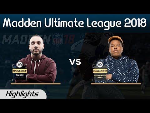 Joke (2-0) vs Tweez (2-0) Highlights   Madden 18 Ultimate League Week 3