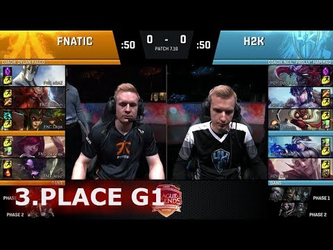 Xxx Mp4 Fnatic Vs H2K Gaming Game 1 3rd Place S7 EU LCS Summer 2017 PlayOffs In Paris FNC Vs H2K G1 3gp Sex